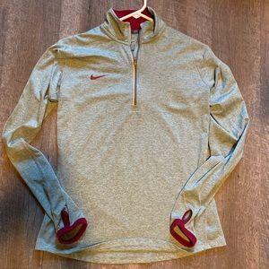 Silk Nike Gray and Maroon Quarter Zip